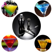 4PCS Practical Stainless Steel Cocktail Shaker Mixer Set with Jigger Ice Tong Drink Bartender Kit Bar Tool