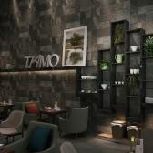 Vivid 3D Stone Brick Chiński Retro Style Removable Faux Brick Wall wzór tapety Dekorowanie pokoju Tło 0.53m * 10m = 5.3㎡