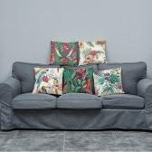 Modne Eleganckie Kolorowe Wysokiej Jakości Afrykańskie Rośliny Tropikalne Liście Kwiaty Linen Printed Square Throw Poduszki Covers Poduszki Poduszki dekoracyjne do Rzymu Biuro Siedzenia Samochodu