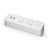 Xiaomi Mijia On-Wall Power Strip Converter Socket 2-outlet with 2 USB Ports 3-Pronged Plug Outlet Switch without Power Cord