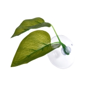 Artificial Plant Leaf Betta Hammock Fish Rest Bed Tropical Saltwater Fish Aquariums Supplies Including 2 Leaves