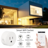 Smart Wi-Fi Mini Outlet Plug Switch Works With Echo Alexa Remote Control US Plug