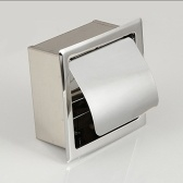 Stainless Steel Concealed Roll Paper Holder Bathroom Hardware Toilet Accessories