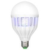 2 in 1 UV Bug Zapper Light Bulb LED Lighting Mosquito Killer Lamp Electronic Pest Fly Zapper Light for Outdoor Indoor E27 Lamp Base AC220V-240V