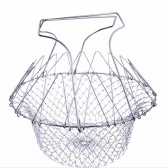 Stainless Steel Expandable Foldable Fry Chef Basket Colander Mesh