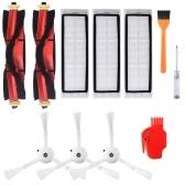 Aspirapolvere robot Filtri Spazzole laterali Spazzola principale Spazzola di pulizia Cacciavite Tool Kit 11 pezzi Accessori di ricambio per XIAOMI Roborock T4 T6 S55 S50 S51 Robot aspirapolvere