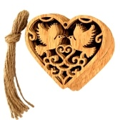 10Pcs Wooden Heart Hollow Birds Hanging Ornaments for Wedding Party DIY Pendant Decoration