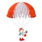 3PCS Christmas Hanging Decoration Snowman Elk Santa Claus Parachute Shaped Christmas Party Supplies