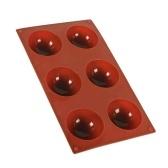 Форма для выпечки полукруга из силикагеля для кухни