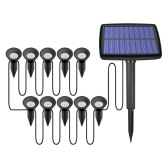 10 Pack Solar Path Stake Lights