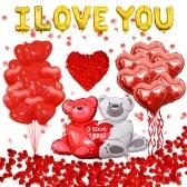 Латексные шары на День Святого Валентина