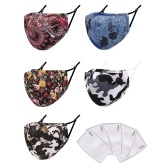 5 PCS Cloth Face Mask with Filter