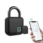 Умный замок по отпечатку пальца и приложение для разблокировки 300 мАч перезаряжаемый отпечаток пальца BT Lock