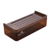 Plastik Wandmontierte Schublade Typ Küche Bad Korb Aufbewahrungsbox Organizer Halter mit doppelten Saugern - Grau