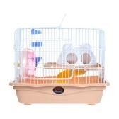 Маленький животный хомяк Gerbil Mouse Rat Cage Habitat House Hideout Детская площадка 2-этажный с подачей бутылки воды Silent Wheel Ladder Pet Supplier