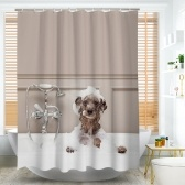 Htovila 72 * 72 inches 3D Printed Polyester Waterproof Anti-Corrosion Anti-Bacterial Bathroom Curtain Decorative Privacy Protection Shower Curtain with 12pcs Plastic Hooks
