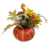 Foglia di acero realistica artificiale delle decorazioni della zucca di Halloween