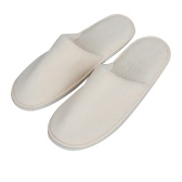 1-pair Free-size Disposable Slippers Hotel Unisex Guest Slippers