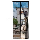 Puerta de malla magnética con cinta mágica de marco completo Cortina de malla de puerta de patio instantánea grande Manos libres