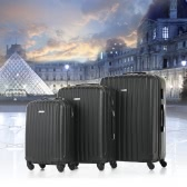 "TOMSHOO moda 3 pezzi set di borse su Carry-on Valigia ABS Trolley 20 ""/ 24"" / 28 ""Hard Shell Combination Lock 4 ruote Spinner Set"