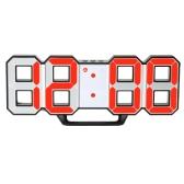 Wielofunkcyjny duży cyfrowy zegar ścienny LED 12H / 24H wyświetlacz czasu z funkcją alarmu i drzemki z regulacją luminancji