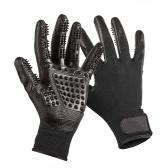 2 stücke Silikon Handschuhe Massagekamm Haar Reinigung Shedding Werkzeuge Baden Pflege Pinsel für Haustier Katzen Hunde