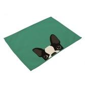 Set de table en polyester à motif animal