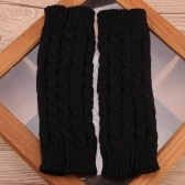 Winter Fashion Unisex Arm Warmer Fingerless Knitted Long Gloves Cute Mittens
