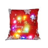 18 * 18 inches / 45 * 45cm Linen Colorful LED Light Christmas Cushion Cover