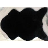 Tapis en laine imitation brillante lavable très doux