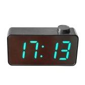 Digital Mirror Alarm Clock 3 Times Displays Luminance