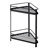 LSF2019019 Fan-Shaped Floor Racks Tripod Storage Racks Kitchen Bathroom Fan-Shaped Corner Triangle Racks Multi-Layer Storage Shelf