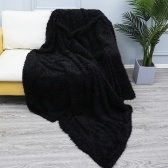 Long Fur Throw Blanket Faux Fluffy Blanket(51 inch * 63 inch)
