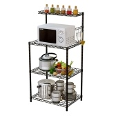 Versatile 4 Tier Bakers Rack Microwave Stand Kitchen Oven Adjustable Rack