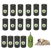 Pet Dog Merde Bag Rolls with Dispenser Dog Waste Bags Anti-fuite Dégradable 15 pcs Doggy Bags Per Roll (16 Rolls)
