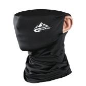 Sciarpa facciale Bandana Polvere solare Protezione antivento Maschera antiscivolo traspirante Ghetta elastica per pesca Caccia Ciclismo Motociclismo
