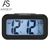 Anself LED Цифровой Будильник Повтор Повторитель Подсветка Датчик Подсветка Время Дата Дисплей температуры