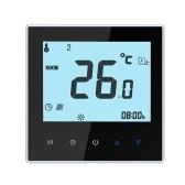 THP1000-UHPW Termostato de aquecimento elétrico Smart WiFi Controlador de temperatura digital Tuya / SmartLife APP Controle Display LCD retroiluminado Controle de voz programável compatível com Amazon Echo / Google Home / Tmall Genie / IFTTT 16A AC95-240V