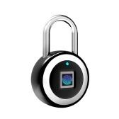 Smart BT Fingerprint Padlock Unlocking by Fingerprint & APP Rechargeable Keyless 10 Fingerprints IP65 Waterproof Anti-Theft Security Padlock Door Luggage Case Lock