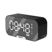 Цифровой зеркальный будильник с динамиком BT, FM-радио и температурным дисплеем Двойные будильники