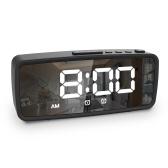 Reloj despertador eléctrico con pantalla LED de 5,1 pulgadas