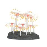 Efekt świecący Sztuczna roślina koralowa dla dekoracji akwarium z rybami Pomarańczowy ornament