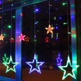 Fancy Star Curtain LED Light Romantic Fairy String Light do sypialni Wedding Party Holiday Christmas Festival Twinkle Decoration Light