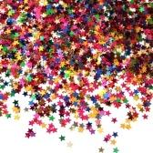 Star Confetti Star Table Argento lucido Glitter Stars Sequin