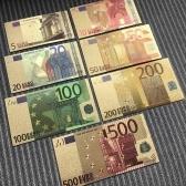 7 STÜCKE Replik Euro Souvenir Banknote Gedenk Banknoten Realistische Gefälschte Spielgeld