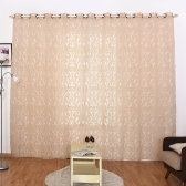 39 * 98 inches Polyester Semi-Blackout Grommet Top Window Curtain Panel Living Room Bedroom Hotel Voile Curtain Drape--Grey