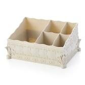 1 шт Костюмный ящик для хранения макияжа Органайзер Многофункциональный цветочный декор Шикарная коробка для губной помады Пульты дистанционного управления Ручки Телефоны Розовые