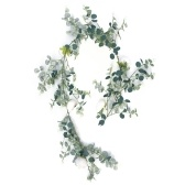 Vignes suspendues artificielles de Noël Les plantes artificielles naturelles laisse la fleur rose