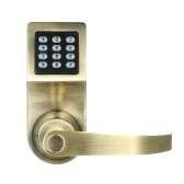 4-in-1 Elektronische Keyless Keypad Tür Coded Lock entsperrt durch Passwort + RF-Karte + Fernbedienung + Mechanical Key Home Security