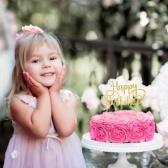 15pcs paillettes papier joyeux anniversaire gâteau topper